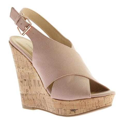 51660e925a5 Chinese Laundry Women s Myya Wedge Sandal Vintage Rose Microsuede