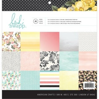 "Heidi Swapp Double-Sided Paper Pad 12""X12"" 48/Sheets-Memory Planner, 24 Designs/2 Each"