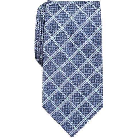 Perry Ellis Portfolio Mens Neck Tie Silk Professional - Blue - O/S