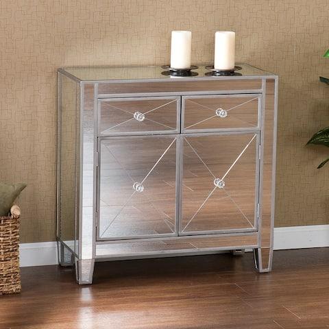 Dalton 2-Door Mirrored Accent Cabinet