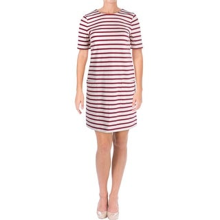 Marc by Marc Jacobs Womens Jacquelyn Casual Dress Striped Short Sleeve - xs