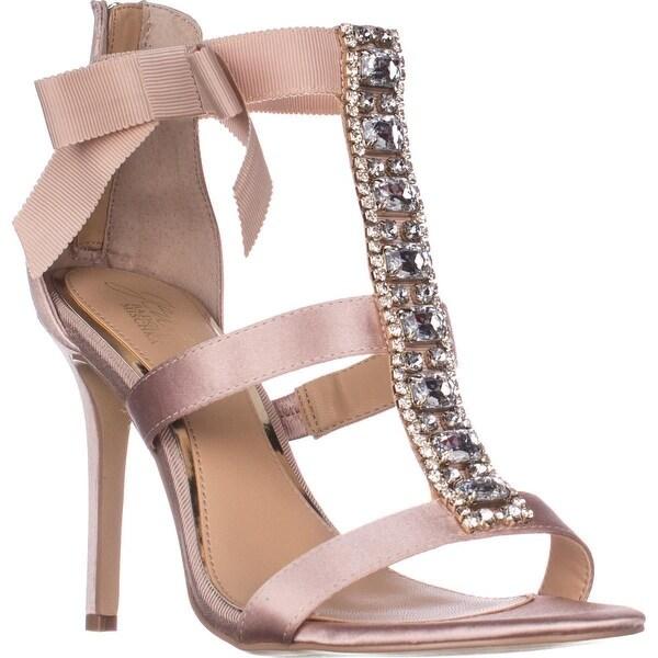 Jewel Badgley Mischka Henderson T-Strap Dress Sandals, Champagne
