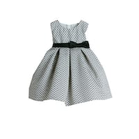 Sweet Kids Baby Girls Black Petite Polka Dot Pleated Flower Girl Dress