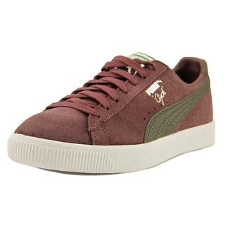 Puma Clyde NYC Men  Round Toe Suede Purple Fashion Sneakers