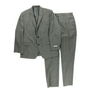 Calvin Klein Mens Wool 2PC Two-Button Suit - 42R