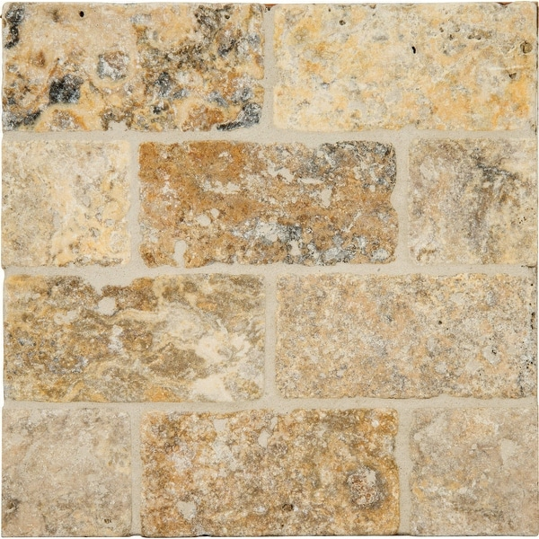 "MSI LPAVTPOR816T Tuscany Porcini - 16"" x 8"" Rectangle Floor Tile - Tumbled Visual - Sold by Carton (0.89 SF/Carton) - Beige"