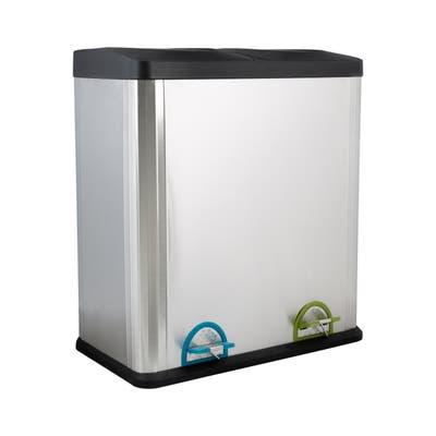 Neu Home 60 Liter 2 Compartment Stainless Recycle Bin