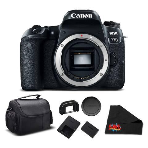 Canon EOS 77D DSLR Camera Body - Essential Bundle