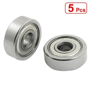 Unique Bargains 5 Pcs 4 x 12 x 4mm Double Shielded Deep Groove Ball Bearings