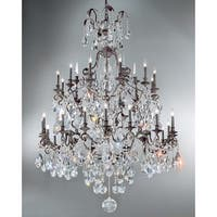 "Classic Lighting 8030 71"" Crystal Cast Brass Chandelier from the Versailles Collection"