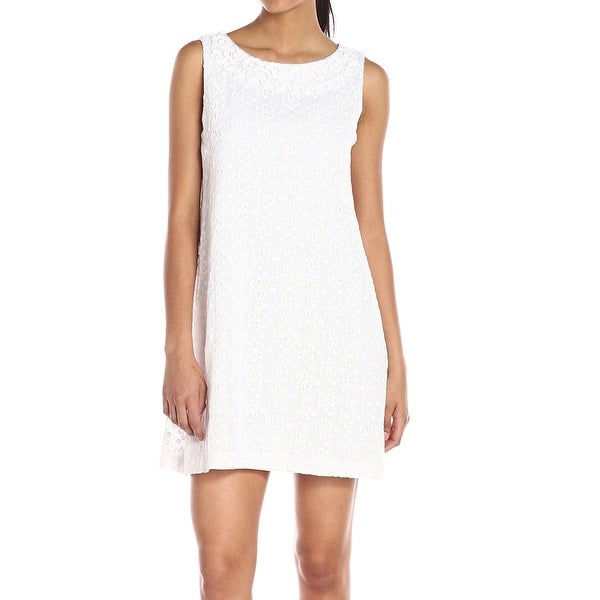 975052b0d46b7 Shop Plenty Dresses By Tracy Reese NEW White Womens Size 10 Sheath Dress -  Free Shipping On Orders Over $45 - Overstock - 19497820