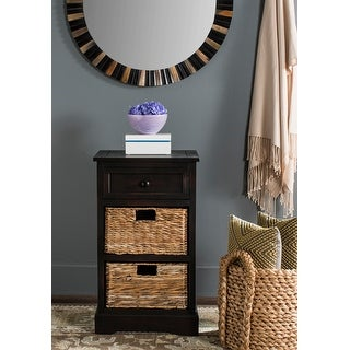 """Safavieh Carrie Brown Side Storage Side Table - 15.9"""" x 13"""" x 27.6"""""""