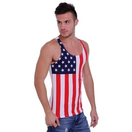 Men's USA Flag Tank Top Stars & Stripes Pride