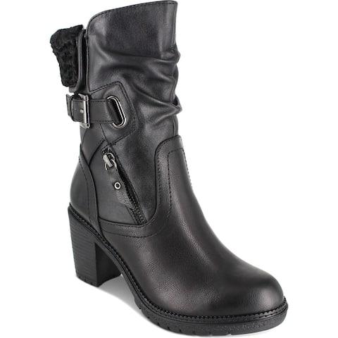 Zigi Soho Womens Annlie Booties Faux Leather Heeled