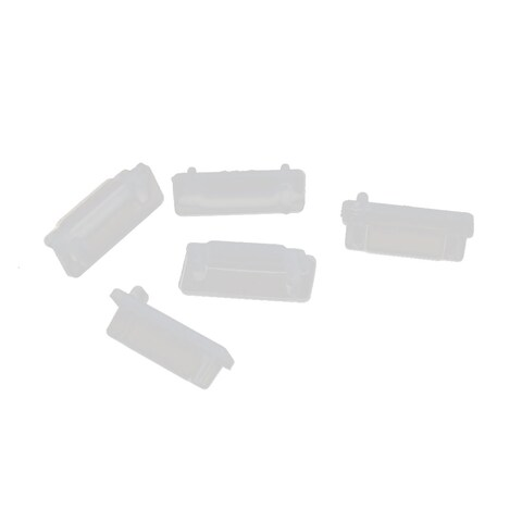 5Pcs eSATA-A Clear Silicone Anti-dust Stopper for Protect Data Port Of PC