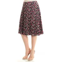 Womens Navy Printed Pleated Skirt  Size  6