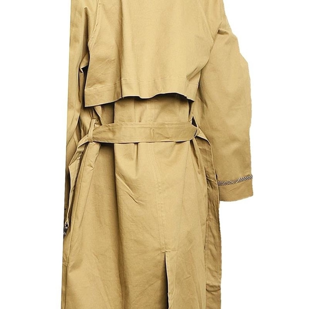 54133b8eb9b62 Shop Haute London Khaki Double Breasted Long Drapey Hunting Trench Coat -  On Sale - Free Shipping Today - Overstock - 27442882