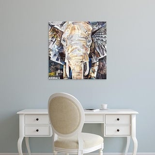 Easy Art Prints James Grey's 'Elephants Gaze' Premium Canvas Art