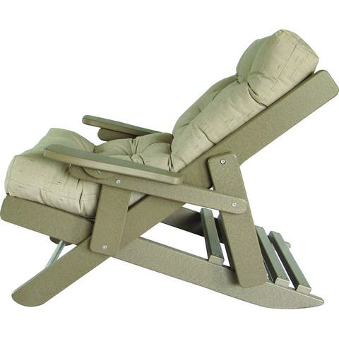Folding and Reclining Siesta Chair - Weathered Wood Recycled Plastic/Poly Lumber