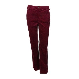Charter Club Women's Straight Leg Golden Pond Pants - acai berry