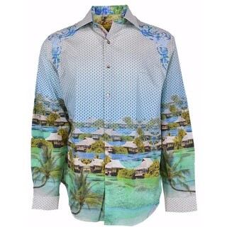 Robert Graham Classic Fit Bentoo Paradise Numbered Ltd Edition Sport Shirt - 2Xl
