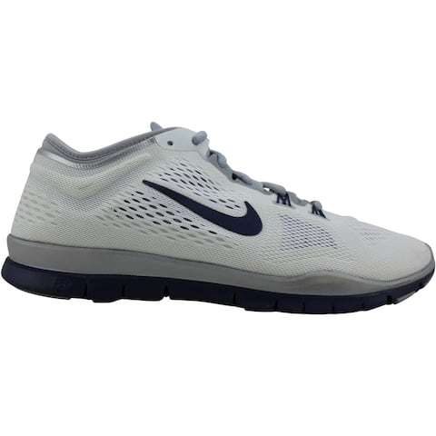 Nike Free 5.0 TR Fit 4 Team White/Mid Navy-Wolf Greu-Pure Platinum 642069-100 Women's