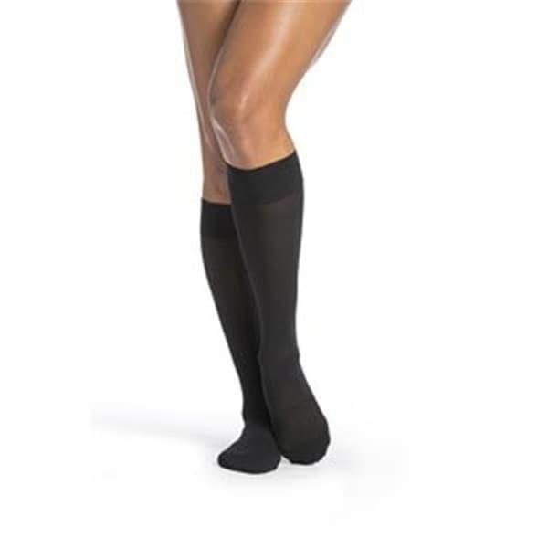 76e2eb5d957f1 Shop Sigvaris Womens Midsheer Calf High Socks, Black - Medium Short - Free  Shipping Today - Overstock - 23183431