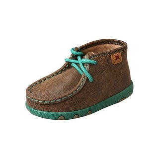 Twisted X Casual Shoes Kids Driving Mocs Lace Bomber Turquoise