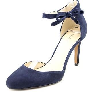 Nine West Howley Women Open Toe Suede Blue Sandals