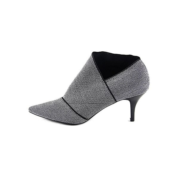 Adrianna Papell Womens Heather Booties Metallic Pointed Toe