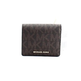 4ee68c9f4992 Shop Michael Kors NEW Brown PVC Signature Carryall Card Holder Mini Wallet  - Free Shipping On Orders Over $45 - Overstock - 18805395