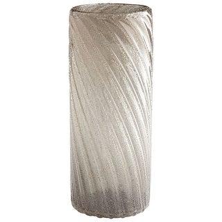 "Cyan Design 09476  Alexis 5-1/2"" Diameter Glass Vase - Almond Gold"