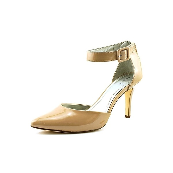 Style & Co. Womens MILOE2 Pointed Toe Ankle Strap D-orsay Pumps