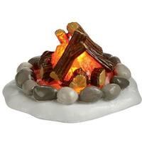 Lit Fire Pit