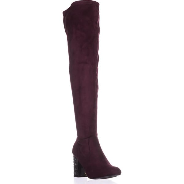 Carlos By Carlos Santana Quantum Wide Calf Over-The-Knee Boots, Malbec