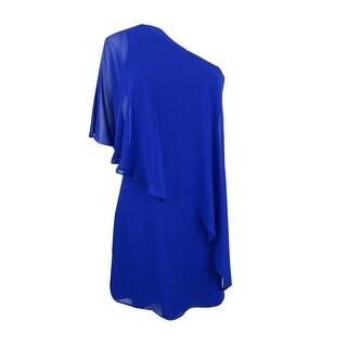 Vince Camuto Women's Ruffled One-Shoulder Shift Dress - cobalt