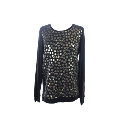 Kensie Black Gold Long-Sleeve Sweatshirt S