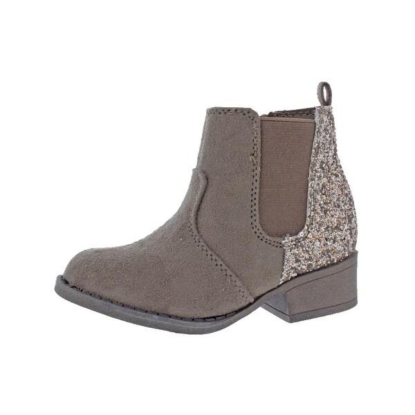 3ccefa0e8c Shop Sarah-Jayne Girls Adison Ankle Boots Glitter Faux Suede - Free ...