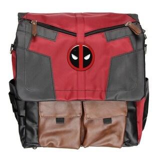 Marvel Deadpool Costume Inspired Utility Convertible Backpack Crossbody Messenger Bag