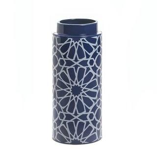 2 Kaleidoscope Ceramic Vases