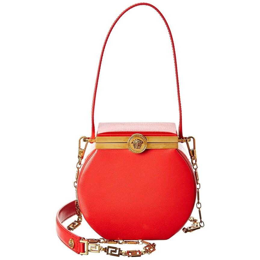 Round Conglobo Leather Shoulder Bag