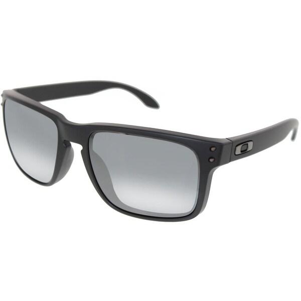 d6e2670b4b Shop Oakley Men s Holbrook OO9102-63 Black Square Sunglasses - Free ...