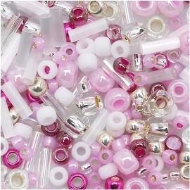 Toho Multi-Shape Glass Beads 'Sakura' Cherry Color Mix 8 Gram Tube