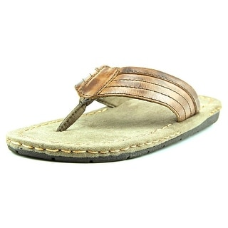 GBX Straite Open Toe Leather Flip Flop Sandal