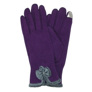 CTM® Women's Velvet Touch Glove with Bow - One size