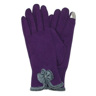 CTM® Women's Velvet Touch Glove with Bow (Option: Grey)