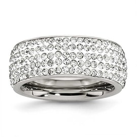 Chisel Stainless Steel Crystal 9mm Eternity Ring
