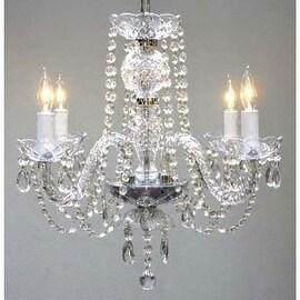 Swarovski Crystal Trimmed Authentic All Crystal Plug In Chandelier