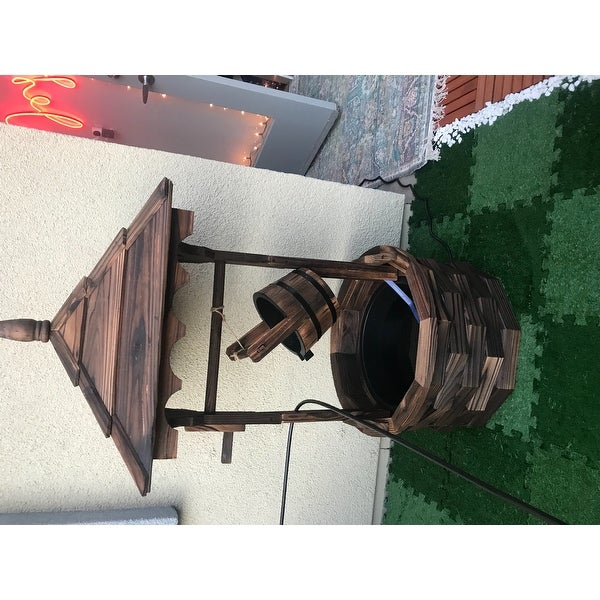 4997d807e06 Shop Sunnydaze Old-Fashioned Wood Wishing Well Water Fountain with Liner -  48-Inch - On Sale - Free Shipping Today - Overstock - 21161988