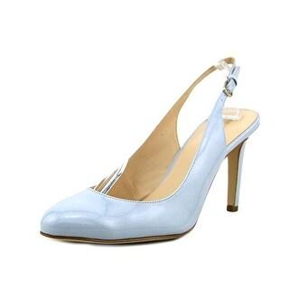 Nine West Holiday Women Round Toe Synthetic Blue Slingback Heel